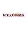 halloween concept word art vector image vector image