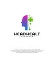 head health logo template head intelligence logo vector image vector image