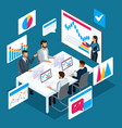 isometric concept of online learning vector image