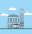 jet airplane parking at airport vector image