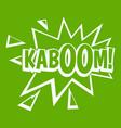 kaboom explosion icon green vector image vector image