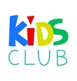 Kids Club Logo Template vector image vector image
