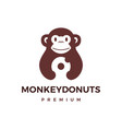 monkey donuts logo icon vector image