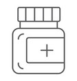 ointment thin line icon care and medicine vector image vector image
