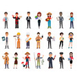people of different professions set vector image vector image