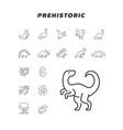 prehistoric icon vector image