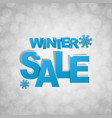 sale glitter banner with snowflake vector image