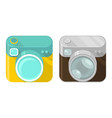 set camera icons vector image vector image