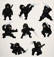 set ninja assassins vector image
