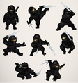 Set of ninja assassins vector image vector image