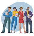 set people characters vector image vector image