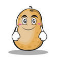 smile potato character cartoon style vector image vector image