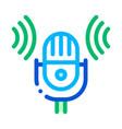 sound microphone voice control icon vector image vector image