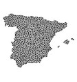 spain map collage of small circles vector image