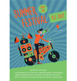 summer festival music poster template with dj vector image vector image