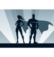 superhero couple vector image vector image