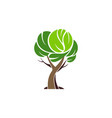 tree logo plant green icon vector image vector image