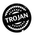 trojan rubber stamp vector image vector image