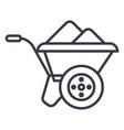 wheelbarrow line icon sign vector image vector image