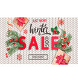 winter sale knitted banner for new year holidays vector image vector image