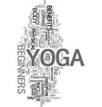 yoga for beginners text word cloud concept vector image vector image