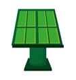 solar panel green energy icon vector image