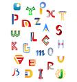 Set of full alphabet symbols vector image