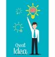Big ideas graphic vector image