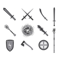 Game RPG weapons icons set vector image