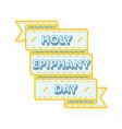holy epiphany day greeting emblem vector image