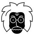 professor scientist icon vector image
