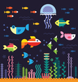 Sea underwater life vector image