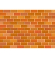 A fragment of red brick wall vector image
