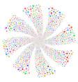 banking map marker fireworks swirl flower vector image vector image