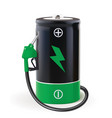 battery with dispenser metaphor use eco power vector image vector image