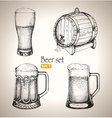 Beer Oktoberfest set Toby jugs and beer barrel vector image vector image