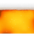 beer texture background with froth and bubbles vector image