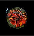 betta fish logo and vector image vector image