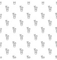 big cactus pattern seamless vector image