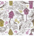 birdhouse drawing vector image vector image