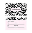 black and pink business card template vector image vector image