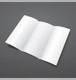 blank white tri fold brochure template vector image