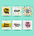 bridal shower greeting postcards vector image vector image