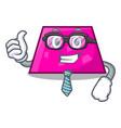Businessman trapezoid character cartoon style