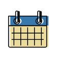 calendar event sheet vector image vector image
