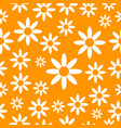Chamomiles seamless pattern background