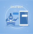 chatbot concept support robot technology digital vector image vector image