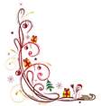 christmas tendril winter vector image vector image
