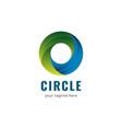 circle logo gradient template design vector image vector image