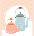 coffee time kettles maker porcelain beverage vector image